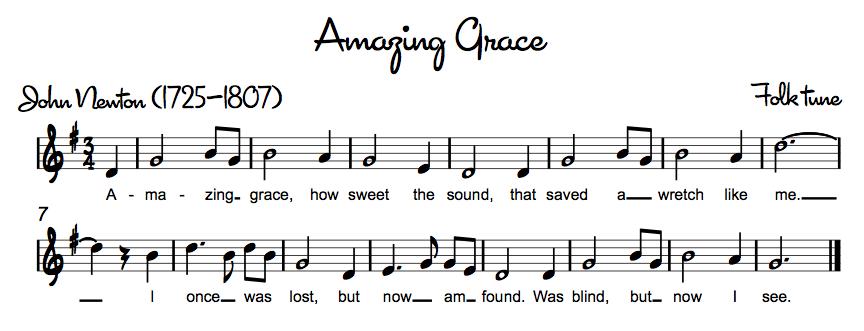 Amazing Grace recorder