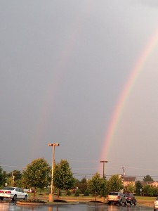 The actual rainbow I saw as I came out of the store