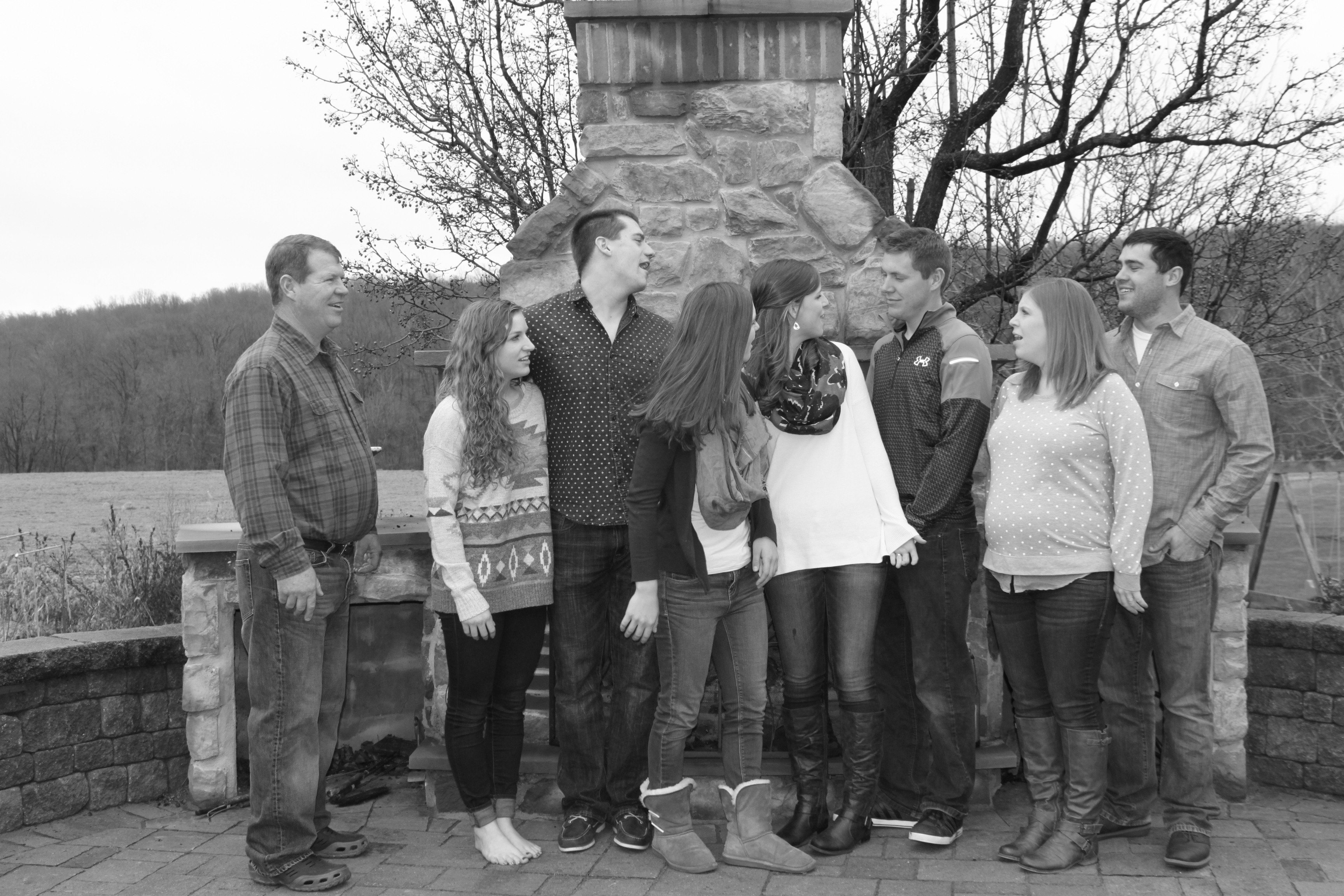 One of our attempts at a family photo over the holidays :)