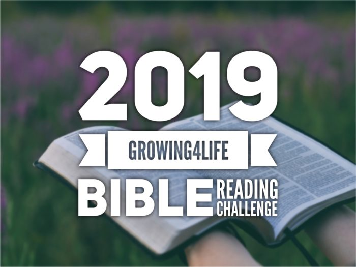 2019 Bible Reading Challenge - Growing 4 Life